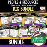 Geography People & Resources (Population, Culture, Land) World Geography Bundle