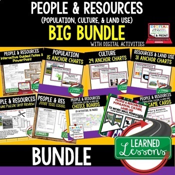 Geography People & Resources (Population, Culture, Land) W