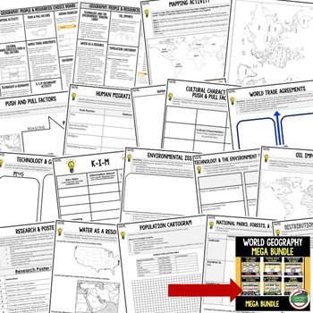 Geography People & Resources Activities, Choice Board, Print & Digital, Google