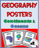 World Geography Posters - Continents and Oceans