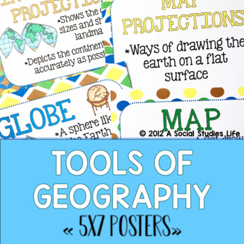 Geography POSTERS (5x7)