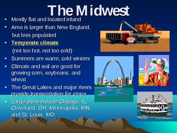 Geography PowerPoint: Regions of the United States (Places, People, Environment)