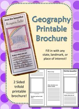 Geography Printable Brochure