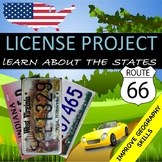 """United States Research Project """"License Plate"""""""