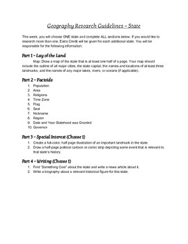 Geography Project Template - State