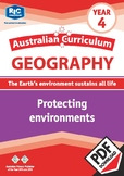 Australian Curriculum Geography: Protecting environments – Year 4