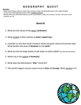Geography Quest