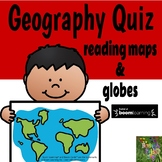 Geography Quiz Maps and Globes- Boom Cards