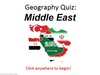 Powerpoint Game: Middle Eastern Geography