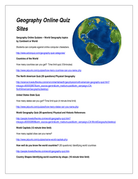 Geography Quizzes - Have Fun with Students!