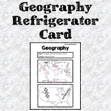 Geography Refrigerator Card (Study Sheet)
