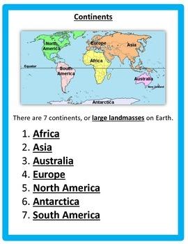 Geography: Regions (4 regions) & Landforms  BUNDLE 4thSS