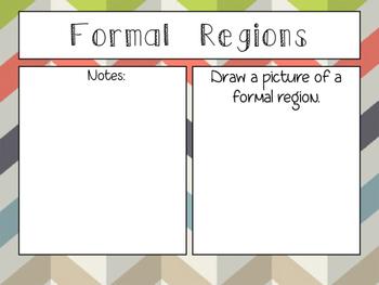 World Geography: Regions Graphic Organizer