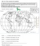 Geography Review, 7 Continents, 5 Oceans, and Latitude Longitude Review