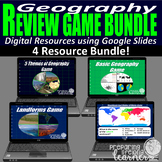 Geography Digital Review Game Bundle (4 Games!)