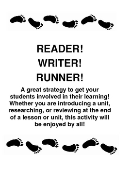 Geography Content Review Game: Reader, Writer, Runner (Turn Worksheets Into Fun)