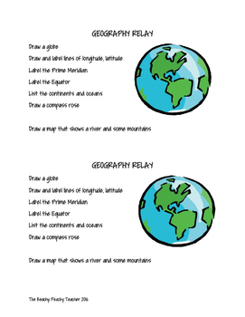 Geography Review Relay