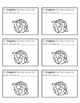 Geography Review {Vocabulary Study Guide}