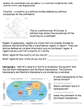 Geography: Review of Common Terms