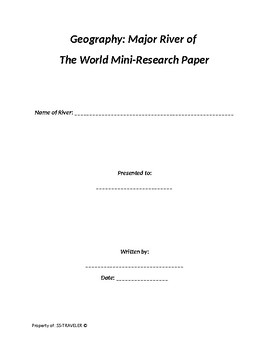 Geography Rivers of the World = Mini-Research Paper