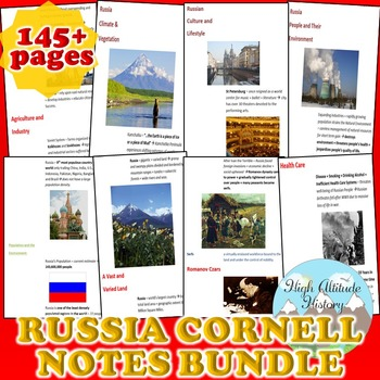 Russia Cornell Notes *Bundle* (Geography)