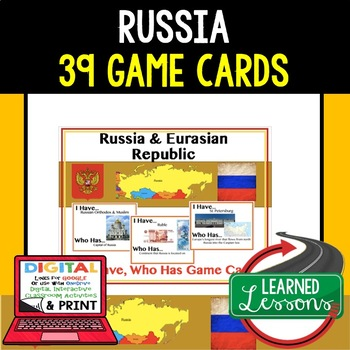 Geography Russia and Eurasia Game Cards