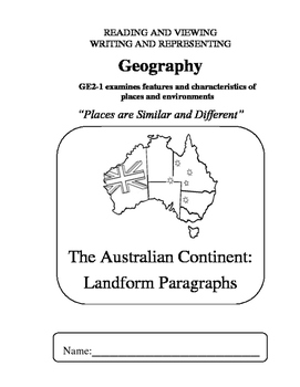 Geography - S2 - 02 Geographical Landforms - writing booklet