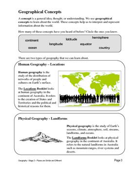 Geography - S2 - Places Are Similar And Different - 01 Geographical Concepts