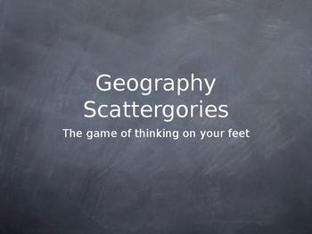 Geography Scattegories
