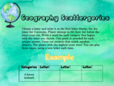 Geography Scattergories - Ready to Use Game