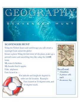 Geography Scavenger Hunt