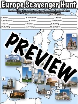 Geography Scavenger Hunt Bundle