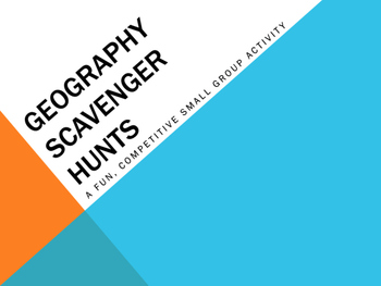 Geography Scavenger Hunts