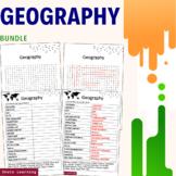 Geography Science Activity - Bundle Scramble Word Finder V
