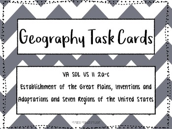 Geography: Seven Regions and Westward Expansion
