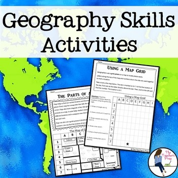 geography and map skills activities by the teacher 39 s prep tpt. Black Bedroom Furniture Sets. Home Design Ideas