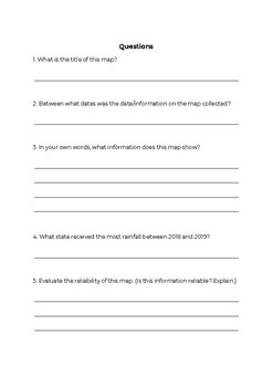 Geography Skills - Analysing and Evaluating Maps Worksheet (Australian Map)