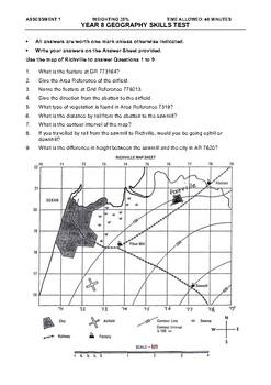 Geography Skills Assessment Junior Secondary