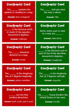 Geography Skills Game Board Activity