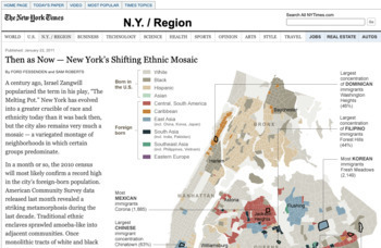 Map Skills Lesson: Using Census Data about Ethnic Communities in New York City