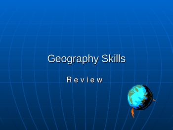 Geography Skills - PowerPoint