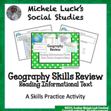Geography Skills Review Centers Activity