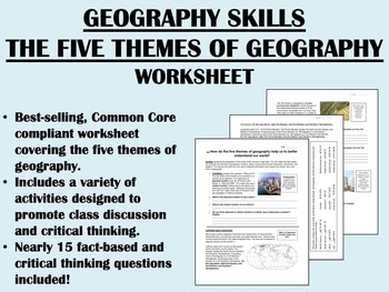 Geography Skills - The Five Themes of Geography worksheet