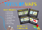 Geography Skills: Types of Maps Classroom Posters