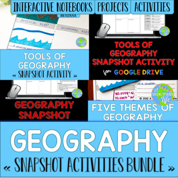 Geography Snapshot Activities BUNDLE