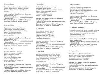 """Geography Songs"" lyrics pdf by Kathy Troxel"