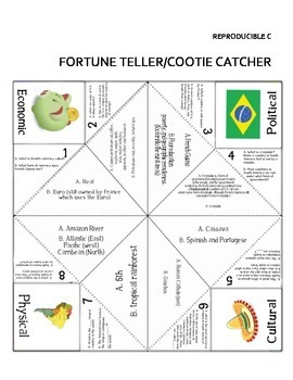 Geography: South America Overview Lesson With Cootie Catcher Fun!