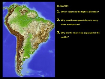 Geography - South America basics powerpoint