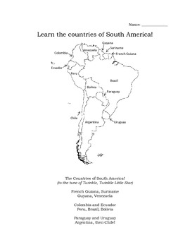 Geography: South America song