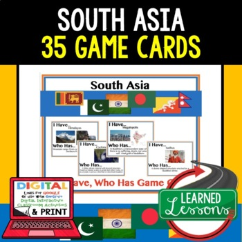 Geography South Asia Game Cards